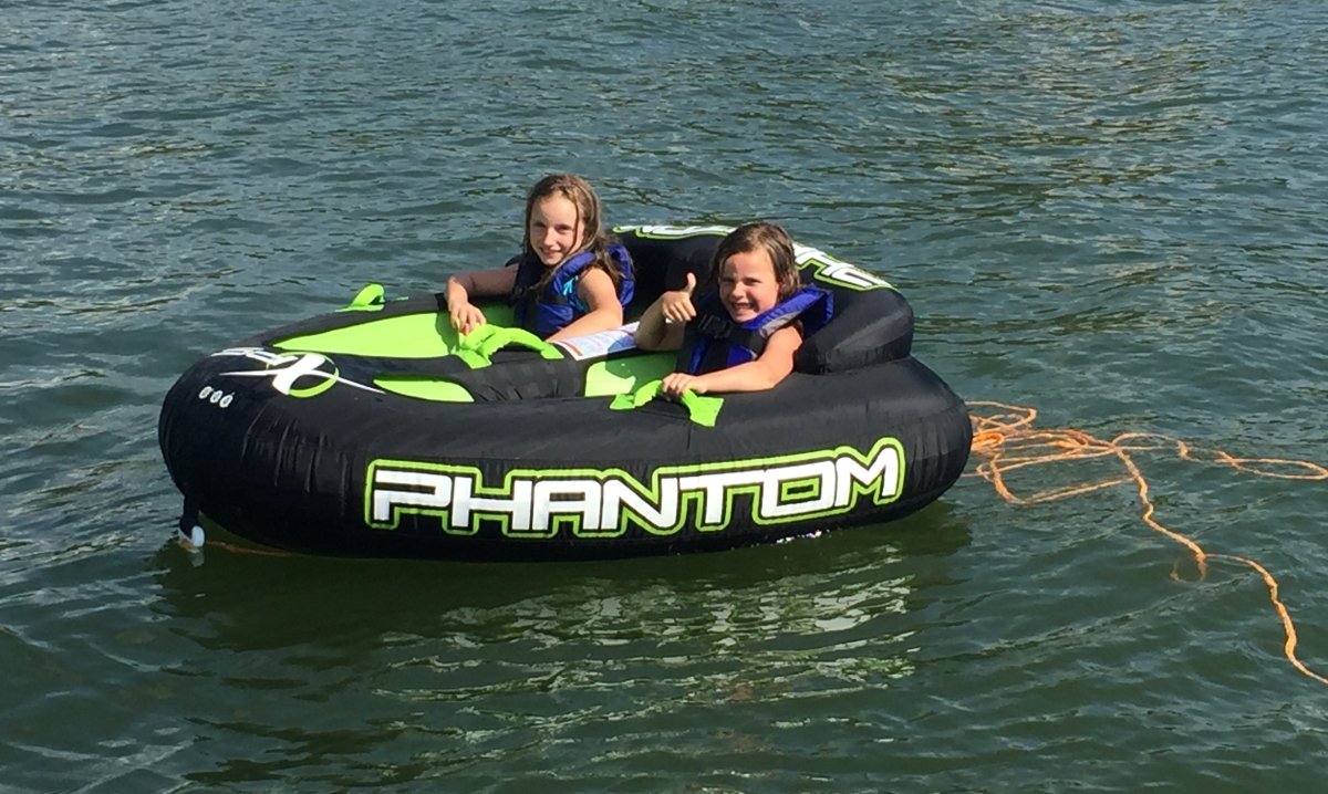 Same Boat Lake All New Experiences The Towable Pontoon Mom Tow Harness For Towables